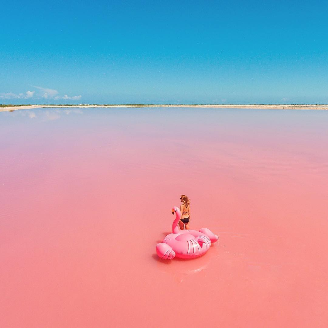 Pink Lake | Tasik Pink, Mexico