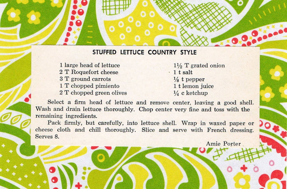 Stuffed Lettuce Country Style (quick recipe)