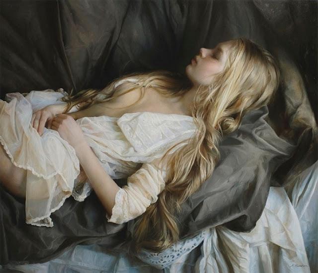 Pinturas a óleo hiperrealistas celebram a beleza da forma feminina