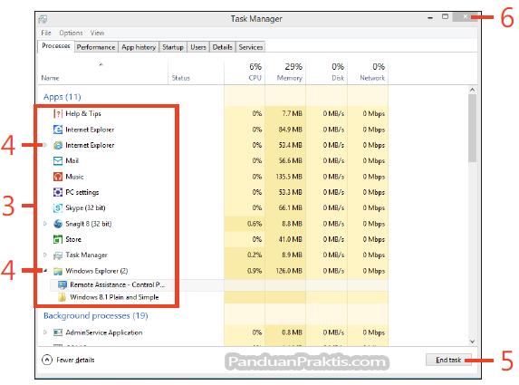 Cara Menutup Aplikasi Menggunakan Task Manager Di Windows 8 1