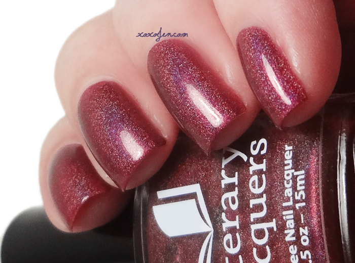 xoxoJen's swatch of Literary Lacquers Phoenix In Her Blood