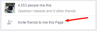how to invite all friends to like this page