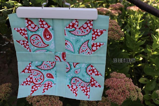 Quiltblock, Quilt, Patchwork, Sewing, Nähen, 6 Köpfe 12 Blöcke