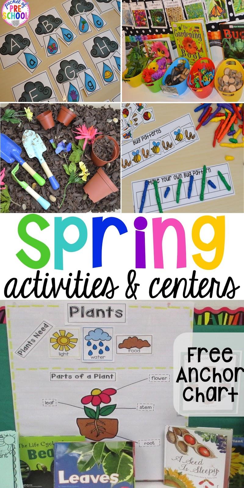 Spring Activities And Centers For Preschool Pre K And Kindergarten