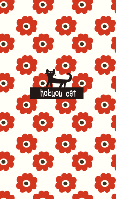 hokuou cat (red flower)
