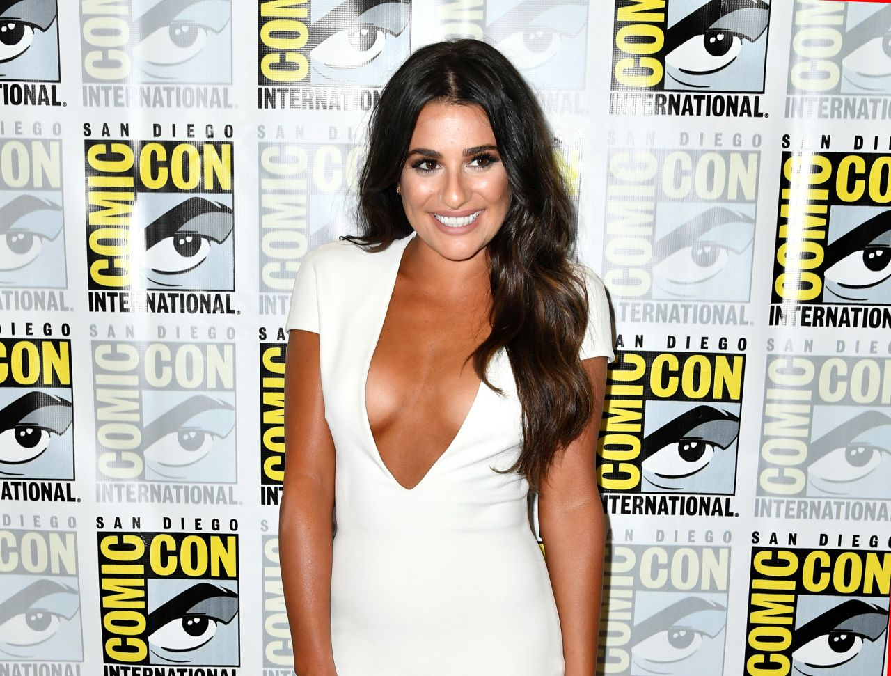Lea Michele goes for the extreme plunge for Comic-Con 2016