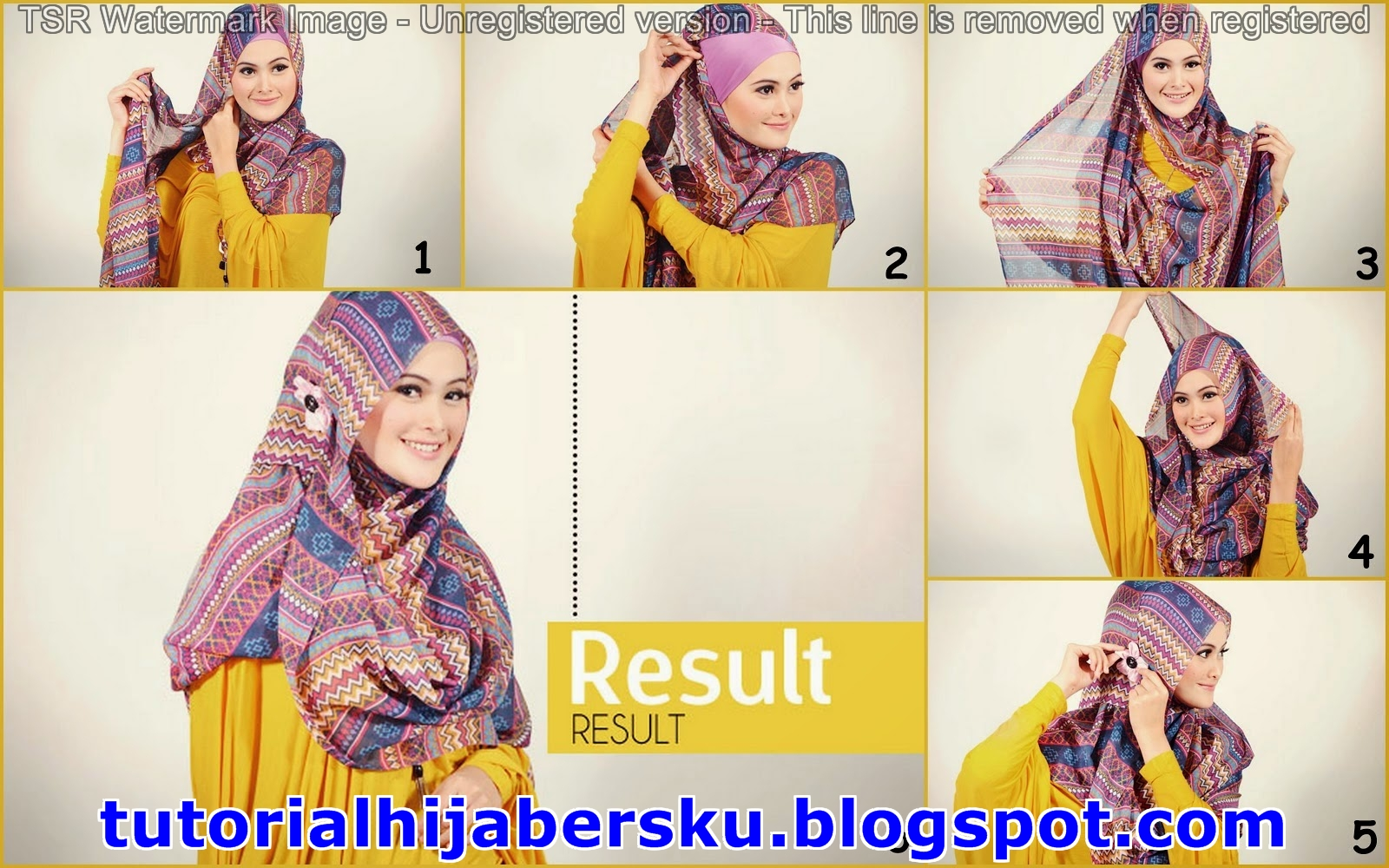6 Cantik Video Tutorial Hijab Paris Modern Tahun 2017 Tutorial