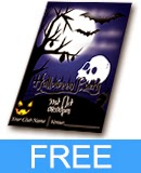 Halloween Invitation Flyer Templete Ai and Psd File for Free