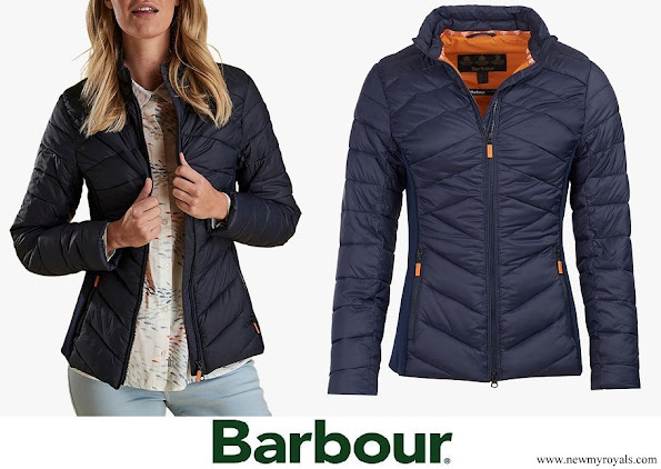 The Duchess of Cambridge is wearing the Barbour Longshore jacket.