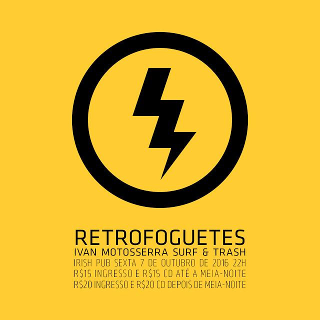 Retrofoguetes faz apresentação única no Dubliners Irish Pub nesta sexta-feira, 07 out