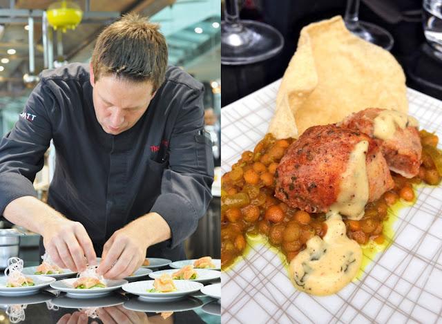 Hyatt Küchendirektor Thomas Hirt und Huhn mit Curry