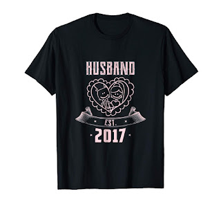 Husband EST 2017 Matchin t-shirt funny xmas gifts