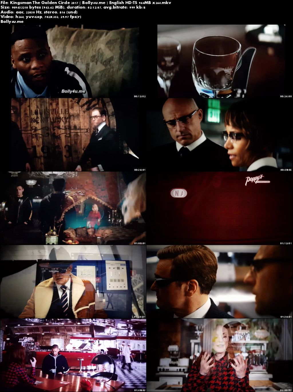Kingsman The Golden Circle 2017 HDTS 900MB English x264 Download