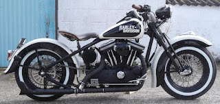 harley davidson wl sportster black and white side right