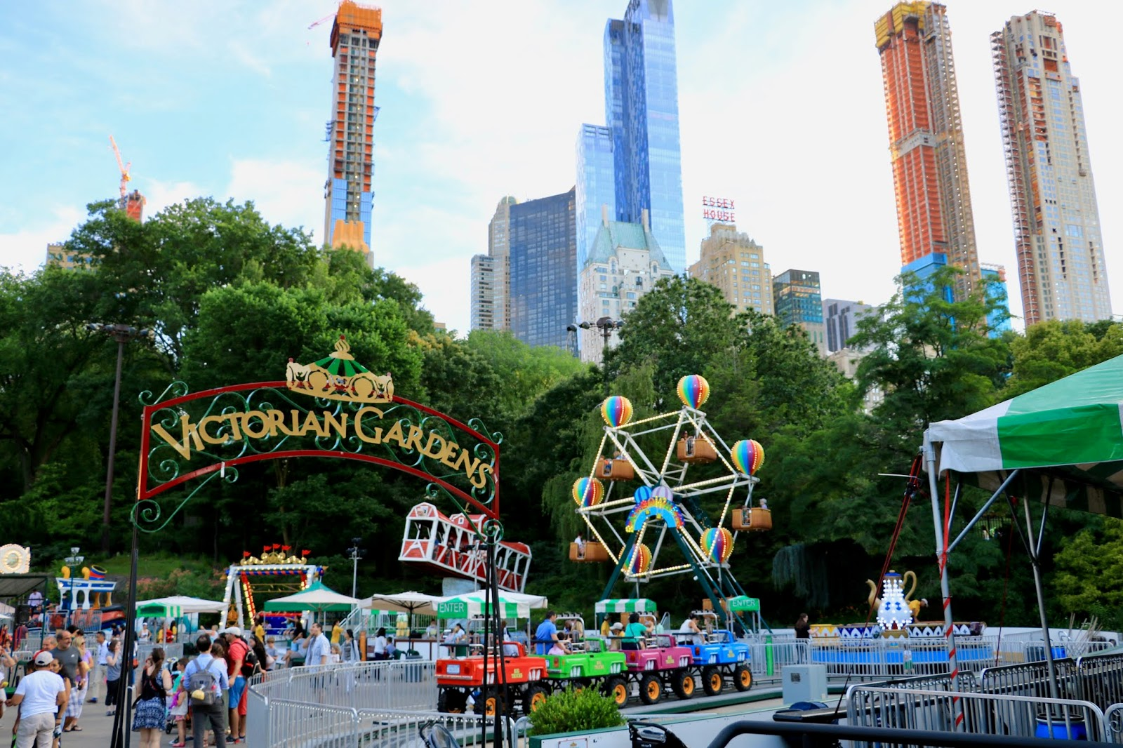 Victorian Gardens carnival in Central Park NYC