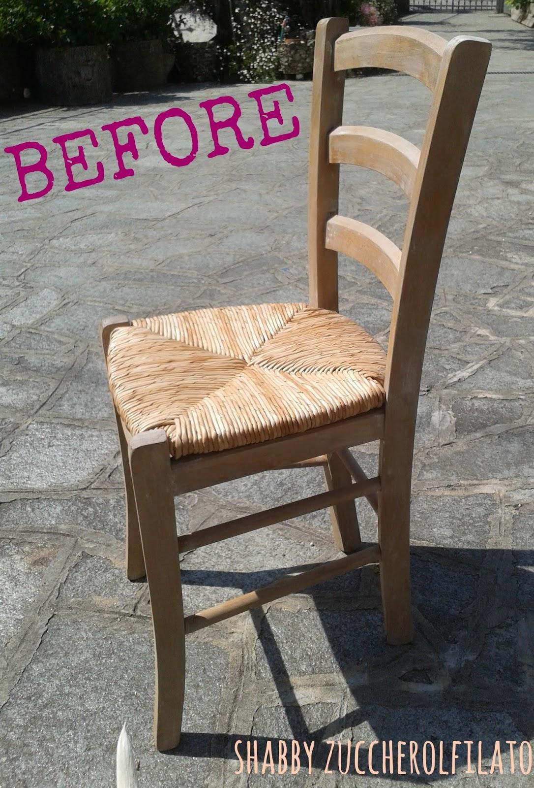 Shabby zuccherofilato coloriamo 4 sedie for Sedie shabby ikea