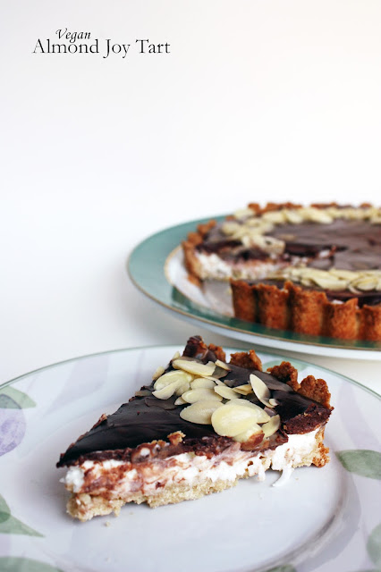 vegan almond joy tart