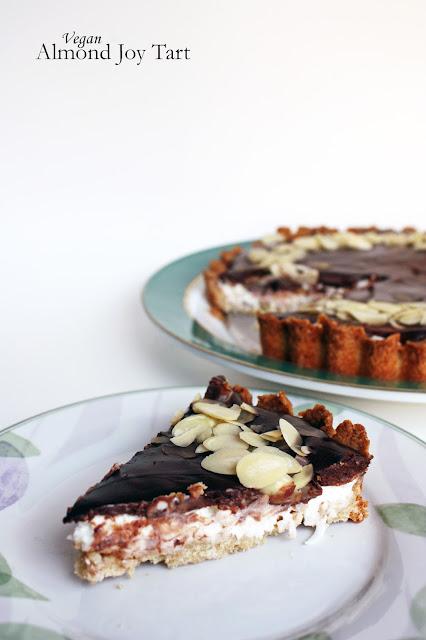 vegan almond joy tart