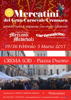 Mercatini del Carnevale e CarnevalCioc 19/26 febbraio 5 marzo Crema (CR)