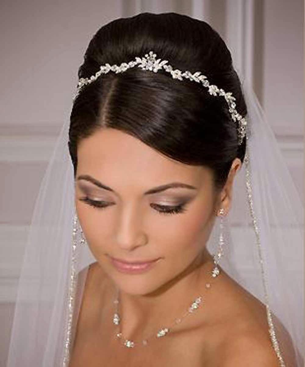 Wedding Hairstyles With Tiara Bridal 2017 Short Long