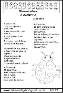 Poesia a joaninha