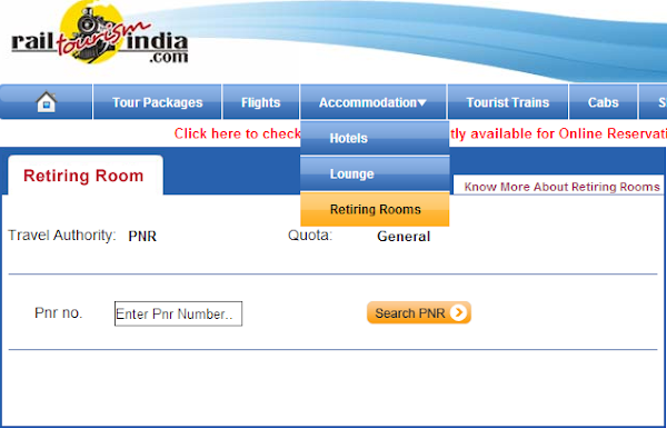 Online railway retiring room  booking is the new service launched by Indian Railway Catering & Tourism Corporation (IRCTC). Now in add...