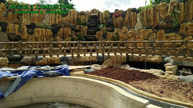 Jasa Pembuatan Dekorasi Kolam Tebing Dan Relif 3D Di Mojokerto