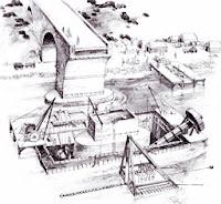 Construcción de puentes romanos