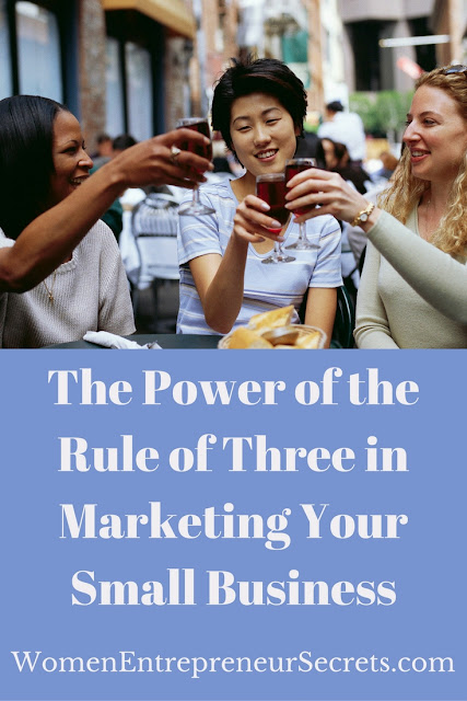 the power of the rule of three in marketing your small business