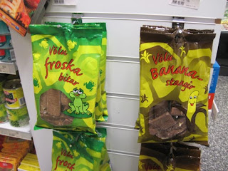 People aren't going to think there's a real frog in chocolate.  They're bound to expect some sort of mock frog.