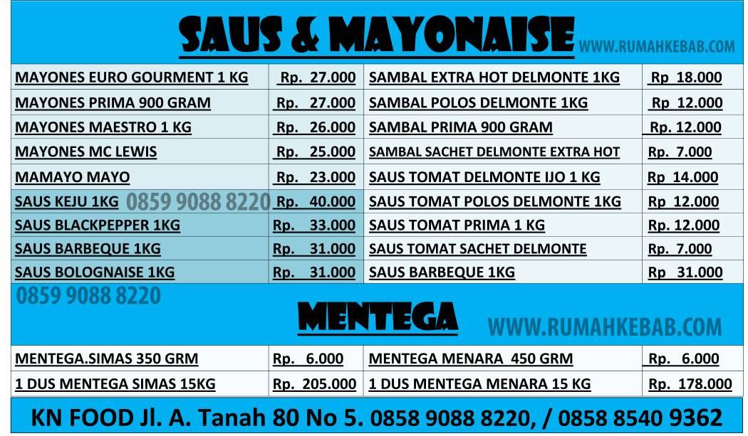 Update Daftar Harga O Mayo Mayonaise Terbaru 2019
