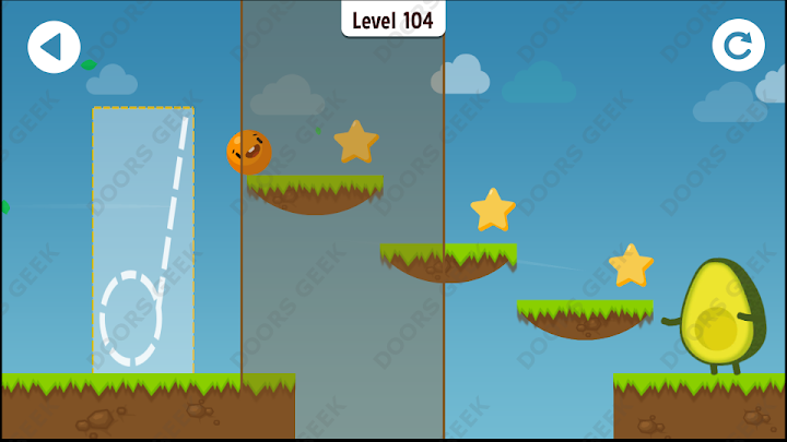 Where's My Avocado? Level 104 Solution, Cheats, Walkthrough, 3 Stars for Android, iPhone, iPad and iPod