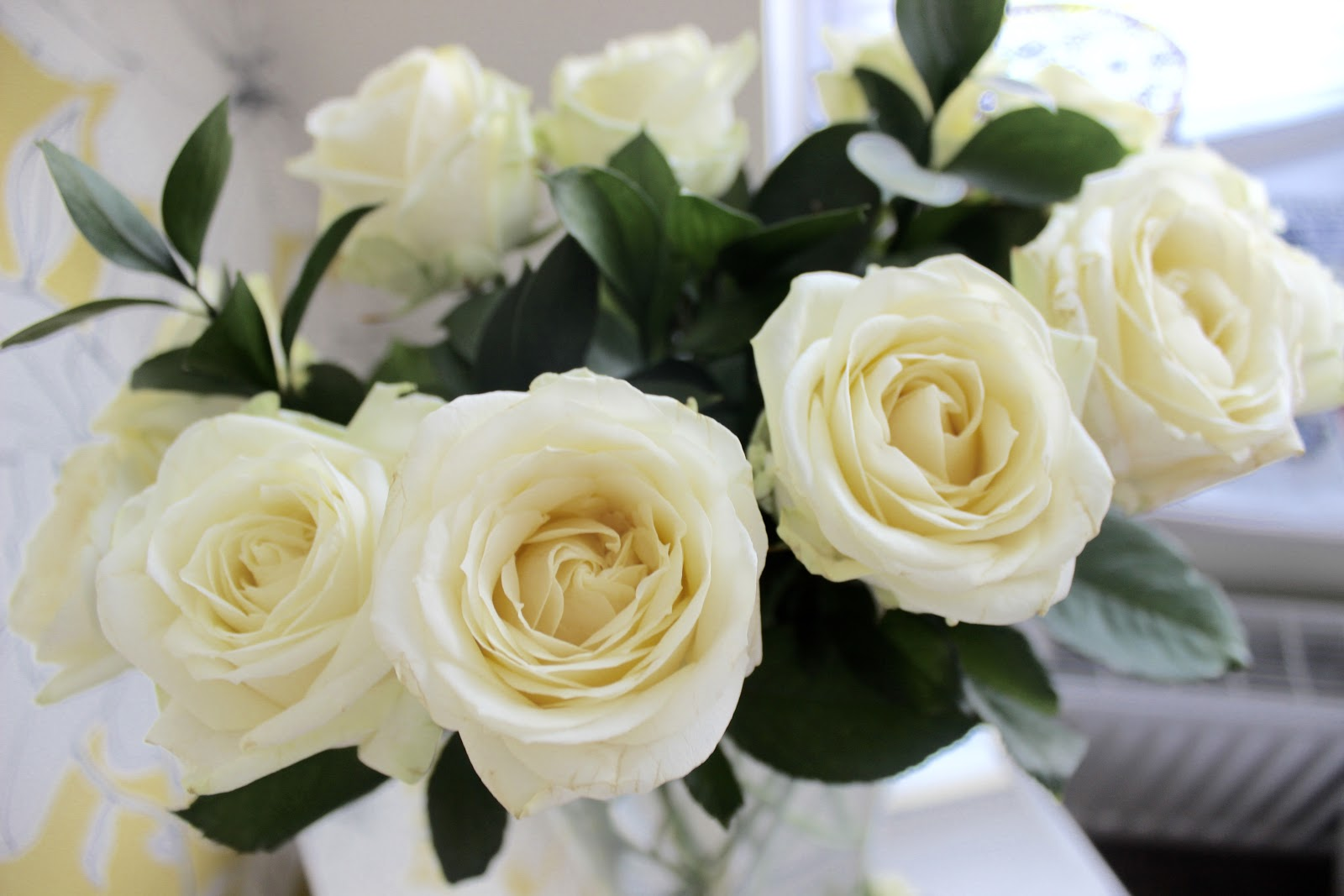 Blossoming gifts, cotton roses, flowers,