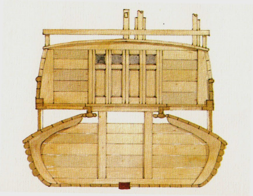 sha-ch'uan or sand boat cross-section
