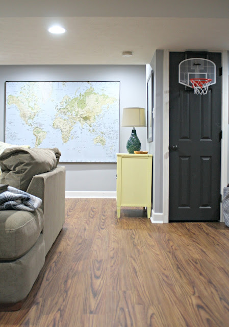 Allure flooring in basement