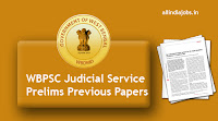WBPSC Judicial Service Prelims Previous Papers