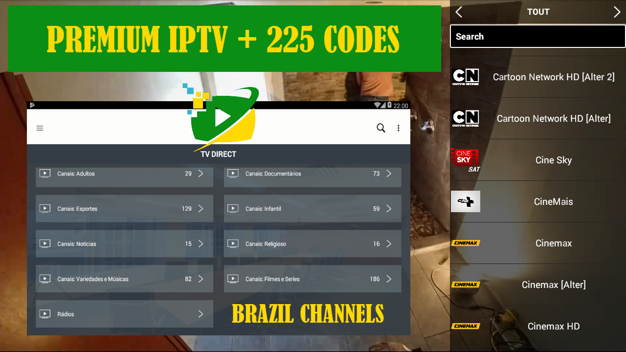 BRAZIPTV PREMIUM IPTV TO WATCH BEST PREMIUM CHANNELS + 225