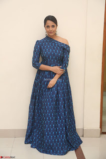 Anchor Anasuya in a Blue Gown at Jai Lava Kusa Trailer Launch ~  Exclusive Celebrities Galleries 002.JPG