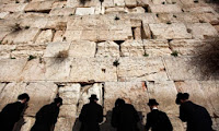 Jews at the Western Wall