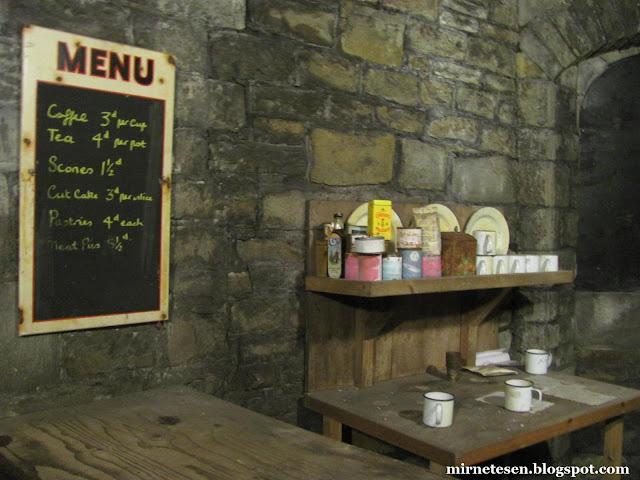 Кардиффский замок - кухня времён Второй мировой войны