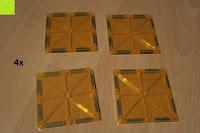 Quadrat gelb: Playbees 100 Teile Magnetische Bausteine Set für 2D und 3D Form Konstruktionen, Regenbogenfarben Magnetspielzeug, Baukasten Magnetspiel, Magnetbausteine