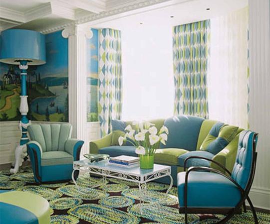 sala verde celeste