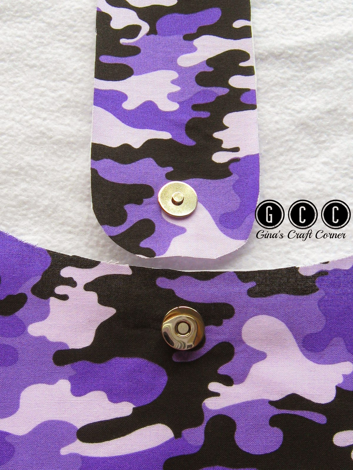 How to add magnets to your handbags by Gina's Craft Corner