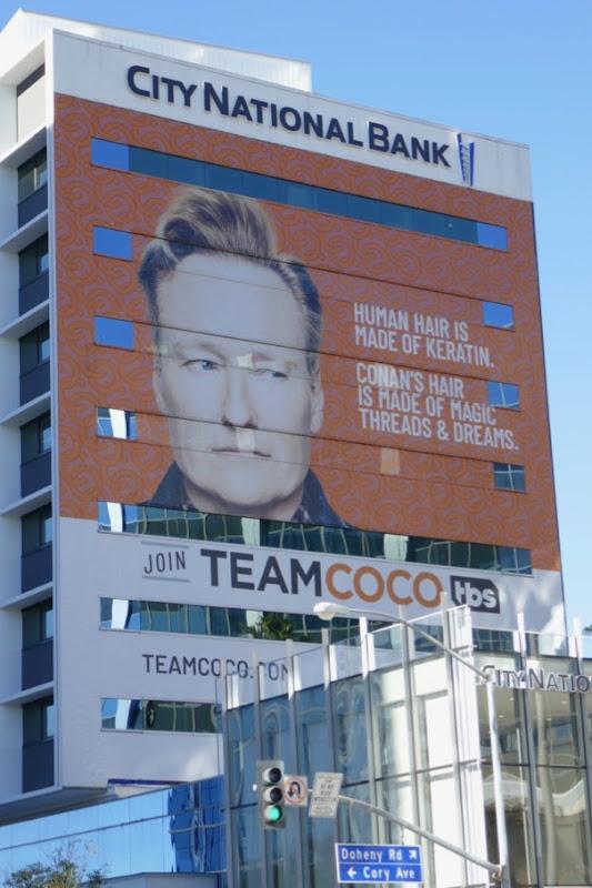 Team Coco Conans hair made magic threads dreams billboard