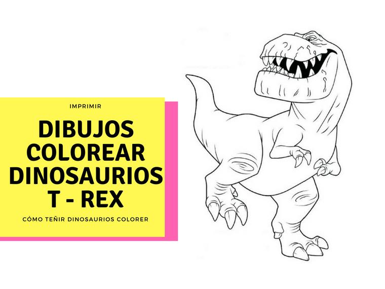 Dinosaurio libro para colorear T rex - Disney para colorear libro