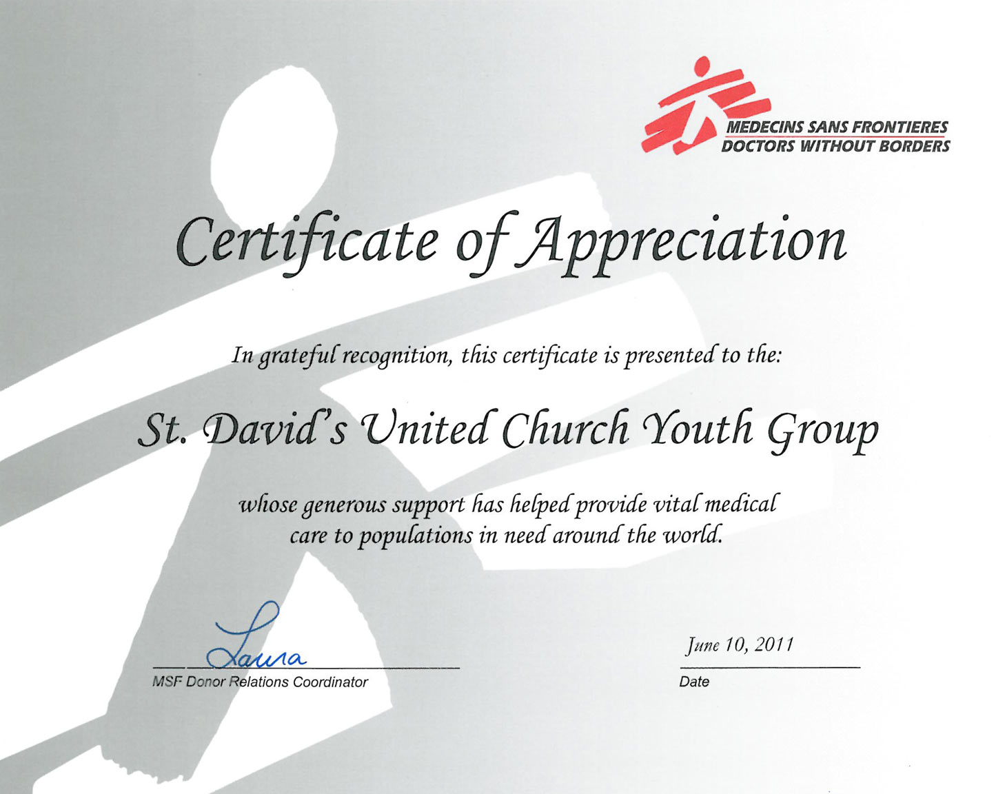 msf thank youth certificate fundraising sans thanking sduc