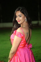 Actress Pujita Ponnada in beautiful red dress at Darshakudu music launch ~ Celebrities Galleries 072.JPG