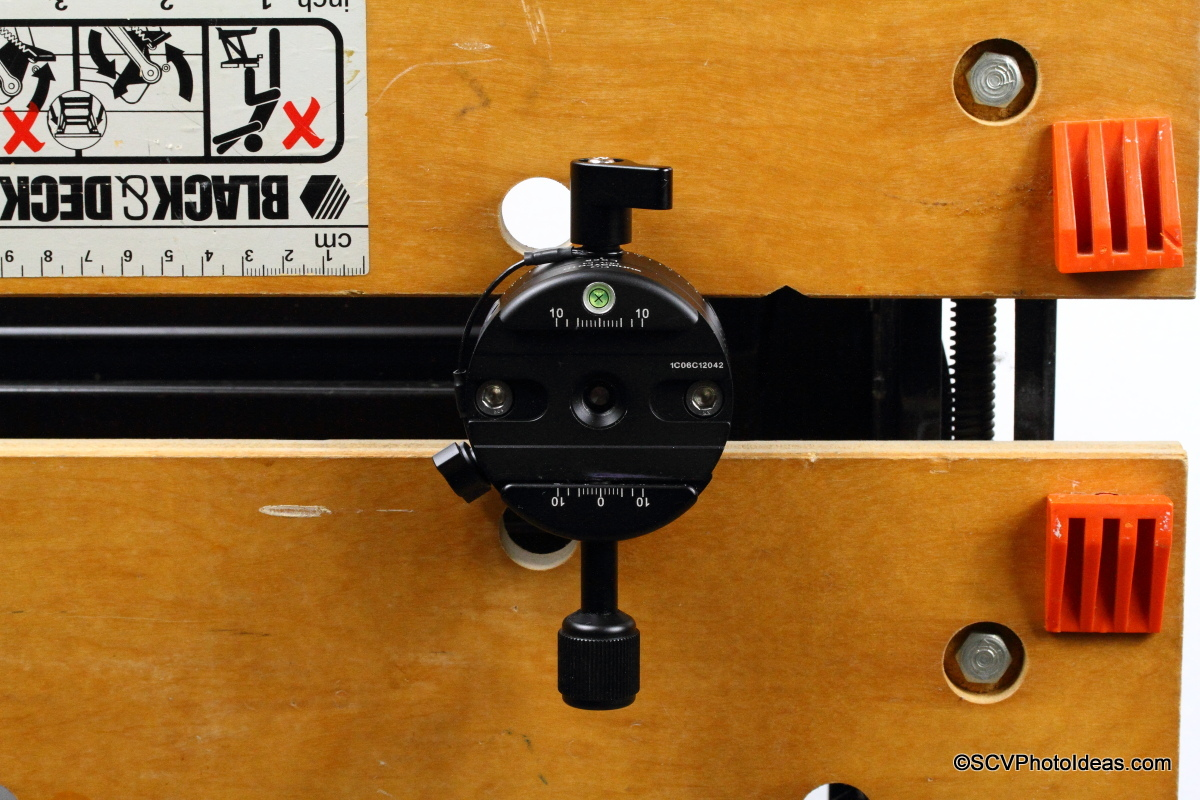 Sunwayfoto DDP-64SX with DDY-64 Discal QR clamp on workbench