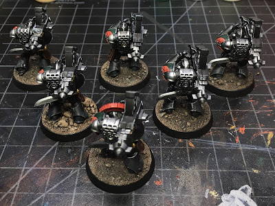Horus Heresy Dark Angels Heavy Support Squad WIP