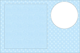 Light Blue with Polka Dots Free Printable Invitations, Labels or Cards.